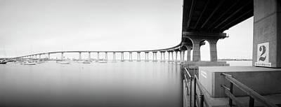 Photograph - Coronado Bridge Bw Panorama by William Dunigan
