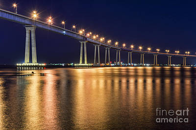 Coronado Bridge Art Print by Eddie Yerkish