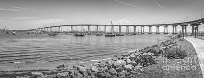 Photograph - Coronado Bridge Prestressed Concrete Steel Girder Bridge by David Zanzinger