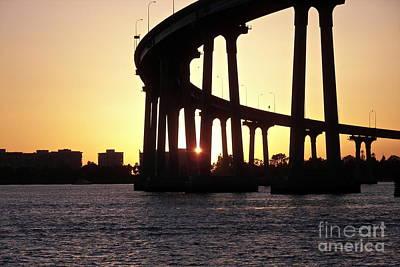 Coronado Bridge Sunset Art Print