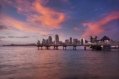 Coronado Ferry Landing Sunset Art Print by Scott Cunningham