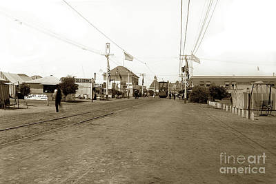 Photograph - Coronado Tent City  And A Double Deck Electric Trolley Car No. 41 Circa 1900 by California Views Mr Pat Hathaway Archives