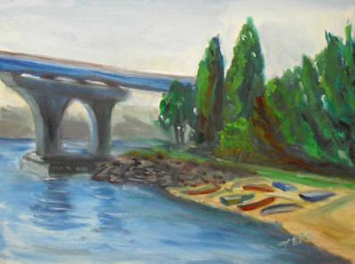 Painting - Coronado Tidelands Park 001 by Jeremy McKay