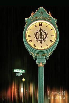 Photograph - Coronado Town Clock by Gabriele Pomykaj
