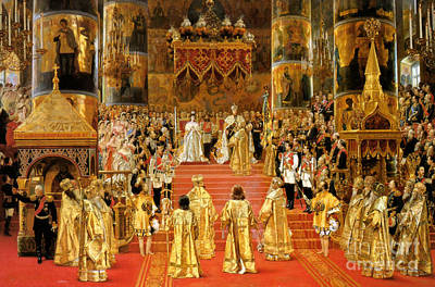 Russian Orthodox Church Painting - Coronation Of Emperor Alexander IIi by Georges Becker