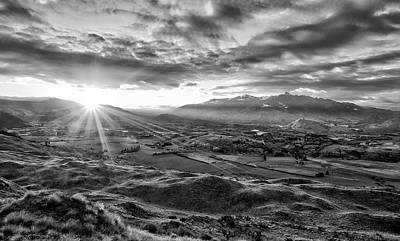 Photograph - Coronet Peak And Skippers Canyon In B And W by Amber Kresge