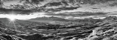 Photograph - Coronet Peak And Skippers Canyon In Black And White by Amber Kresge