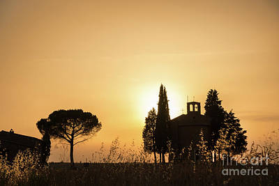 Wheat Silhouette Photograph - Vitaleta Chapel by Delphimages Photo Creations