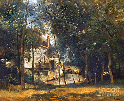Arras Photograph - Corot - The Mill by Granger
