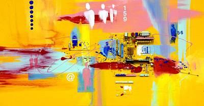 Corporate Life Art Print by Carlos Printe