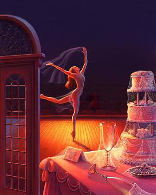 Ballet Dancers Painting - Corpse De Ballet by Robin Moline