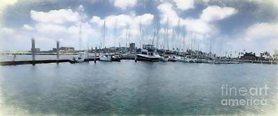Photograph - Corpus Christi Bay Marina by Luther Fine Art