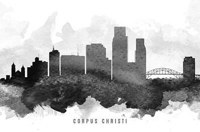 Corpus Christi Painting - Corpus Christi Cityscape 11 by Aged Pixel