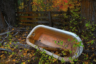 Autumn Photograph - Corral Amenities by Ron Day
