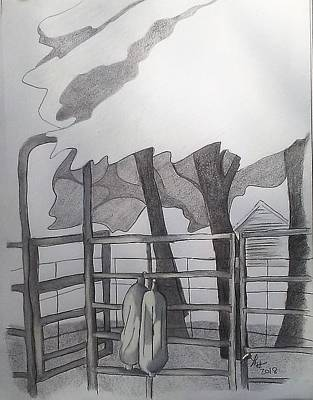 Drawing - Corral by Loretta Nash