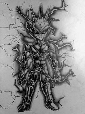 correct picture of Super Delta Second Transformation Iron Nuke Art Print