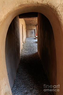 Photograph - Corridor And Arched Doorway At La Hacienda Del Los Martinez by Richard Smith