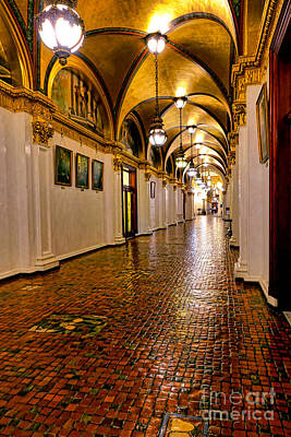 Corridor Of Power In Harrisburg Art Print by Olivier Le Queinec