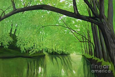 Painting - Corridor by Robert Coppen