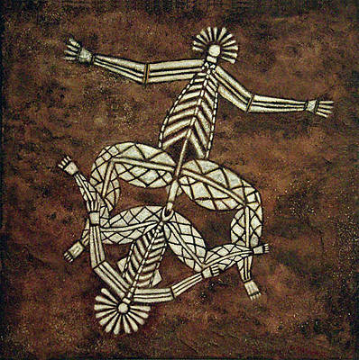 Painting - Corroboree by Ed Meredith
