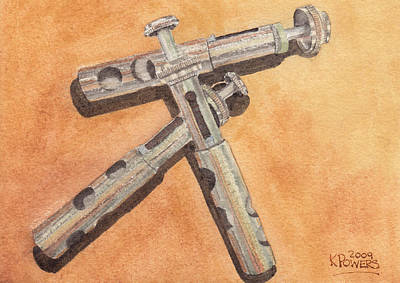 Corroded Trumpet Pistons Art Print by Ken Powers