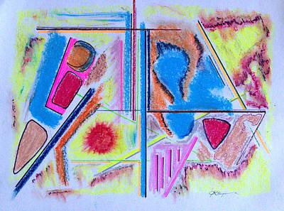 Corrosion In Sectors Art Print