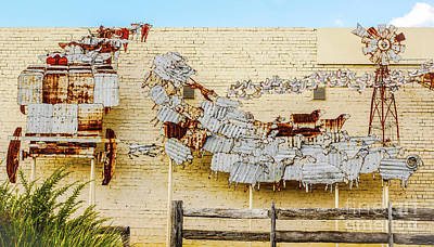 Photograph - Corrugated Iron Mural by Lexa Harpell