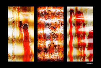 Photograph - Corrugated Iron Triptych #1 by Lexa Harpell