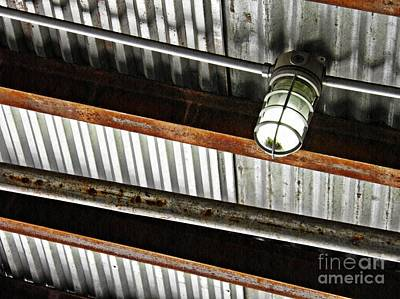 Photograph - Corrugated Metal Abstract 10 by Sarah Loft