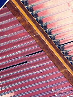 Photograph - Corrugated Metal Abstract 2 by Sarah Loft