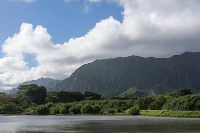 Photograph - Corrugated Mountains And A Hole In The Sky - Hawaiian Travel  by Georgia Mizuleva
