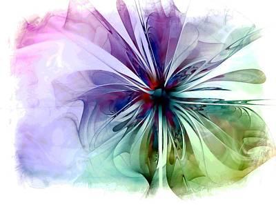 Framed Art Digital Art - Corsage by Amanda Moore