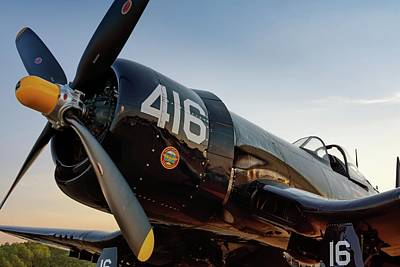 Photograph - Corsair At Twilight by Chris Buff