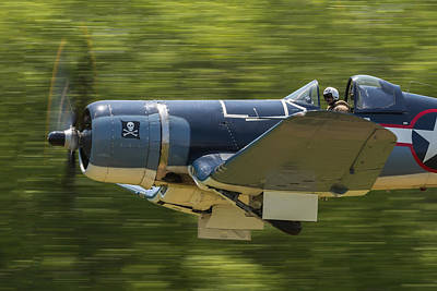 Photograph - Corsair Close-up On Takeoff by Liza Eckardt