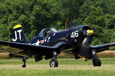 Allies Photograph - Corsair Close-up by Peter Chilelli
