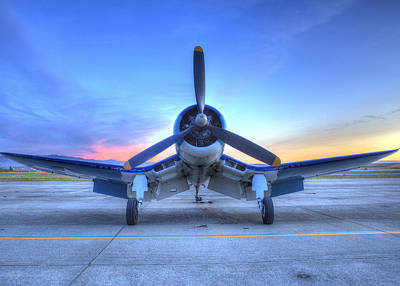 Corsair F4u At The Hollister Air Show Art Print