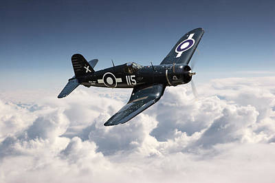 Corsair F4u - Royal Navy Art Print by Pat Speirs