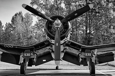 Photograph - Corsair In The Woods - 2018 Christopher Buff, Www.aviationbuff.c by Chris Buff