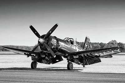 Photograph - Corsair Splendor In Black And White by Chris Buff