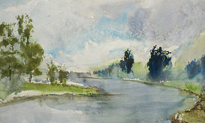 Corte Madera Creek1 Art Print