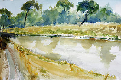 Painting - Corte Madera Creek2 by Tom Simmons