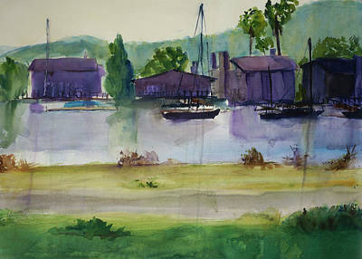 Painting - Corte Madera Creek7 by Tom Simmons