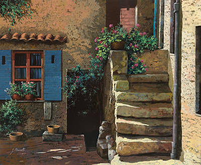 Cortile Interno Art Print