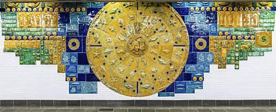 Nyc Subway Mosaic Photograph - Cortlandt Street Subway Station by Ivan Santiago