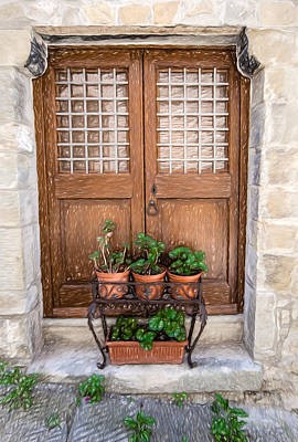 Painting - Cortona Brown Door by David Letts