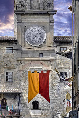 Photograph - Cortona Clock Tower by Al Hurley