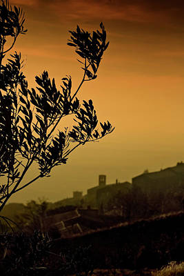 Photograph - Cortona Sunset by Al Hurley