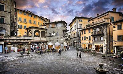 Photograph - Cortona Tuscany Piazza by Al Hurley