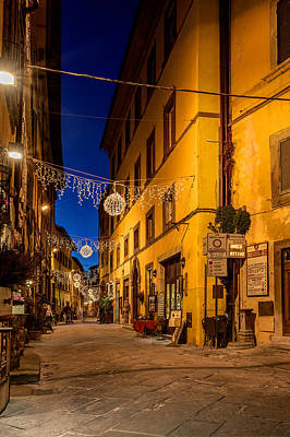 Photograph - Cortona Via Nazionale by Al Hurley