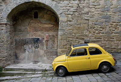 Photograph - Cortona Wall With Car by Al Hurley